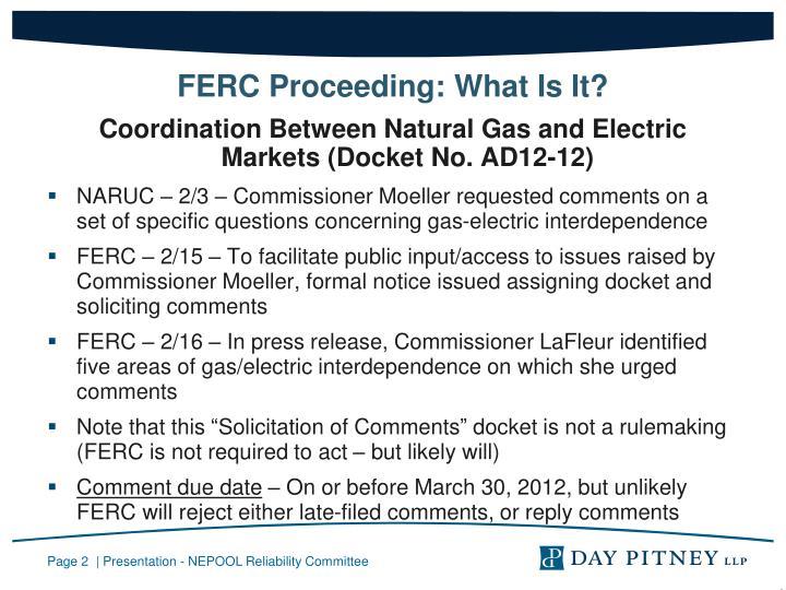 FERC Proceeding: What Is It?