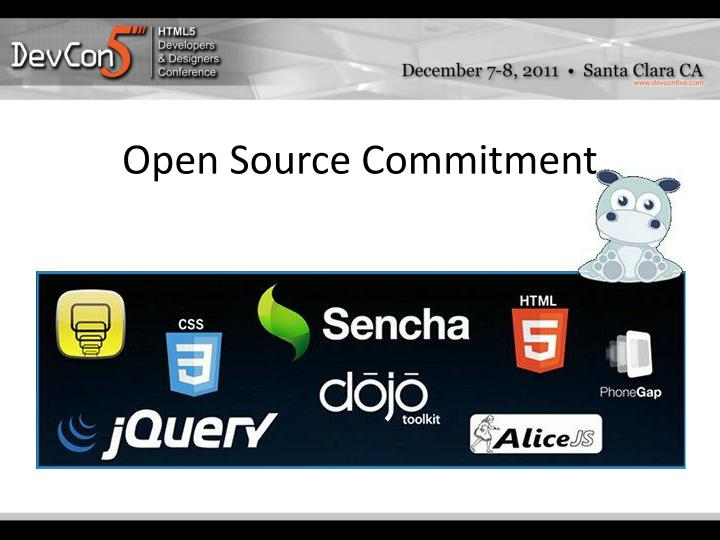 Open Source Commitment