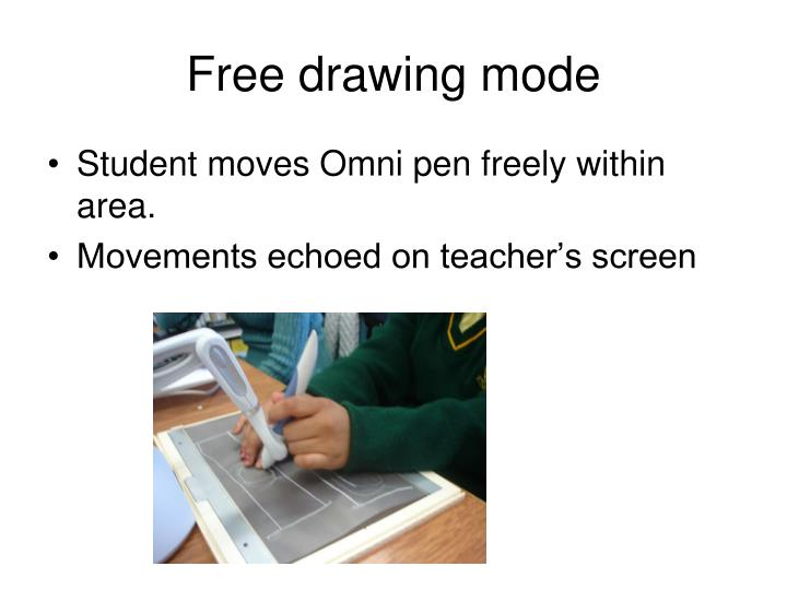 Free drawing mode