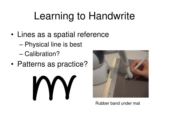 Learning to Handwrite