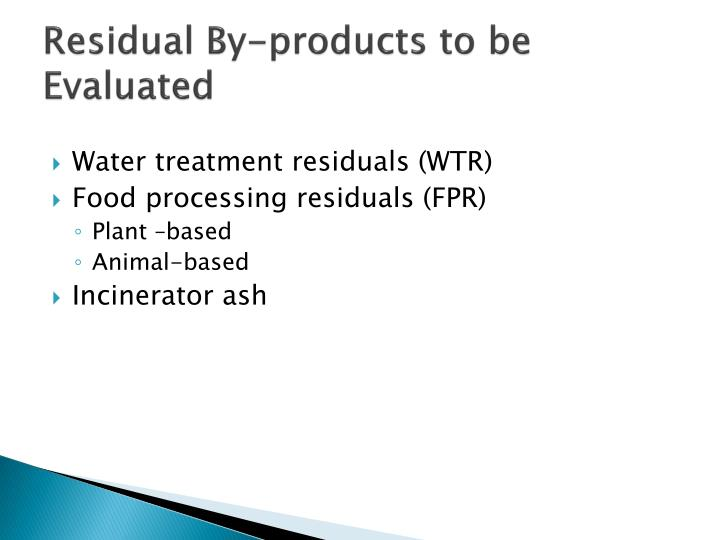 PPT - How to Evaluate and Manage Non- Biosolids Residuals ...