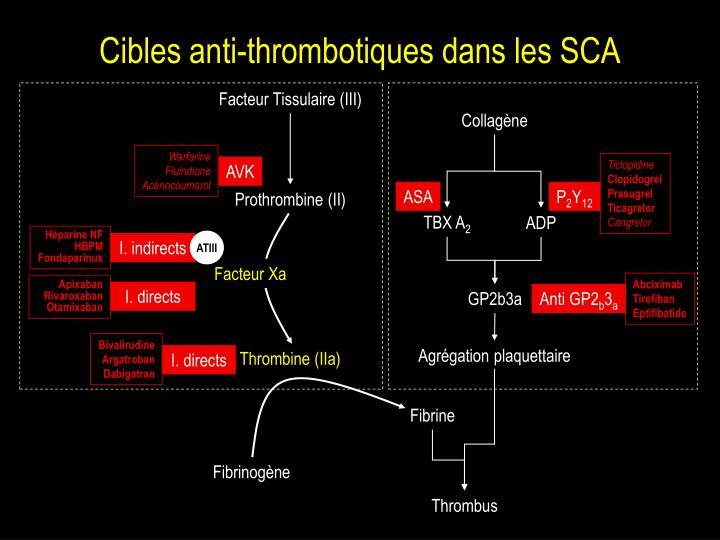 Cibles anti-thrombotiques dans les SCA