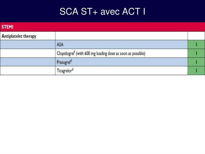 SCA ST+ avec ACT I