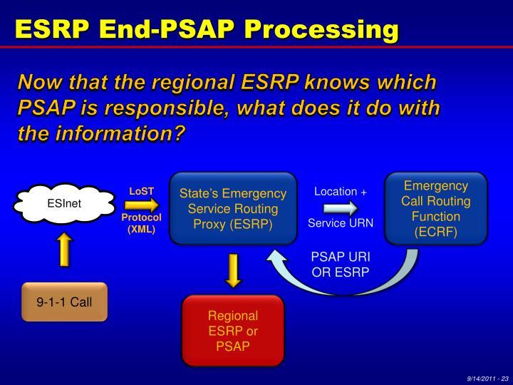 ESRP End-PSAP Processing