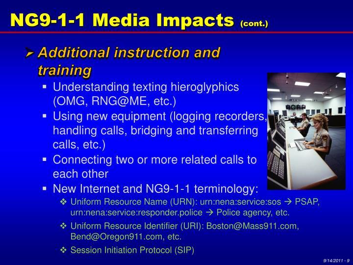NG9-1-1 Media Impacts