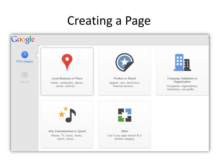Creating a Page