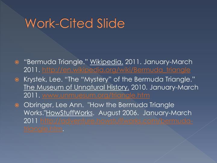 Work-Cited Slide