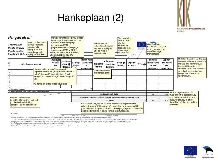 Hankeplaan (2)