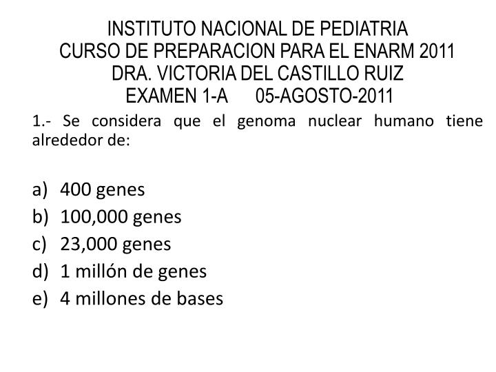 INSTITUTO NACIONAL DE PEDIATRIA