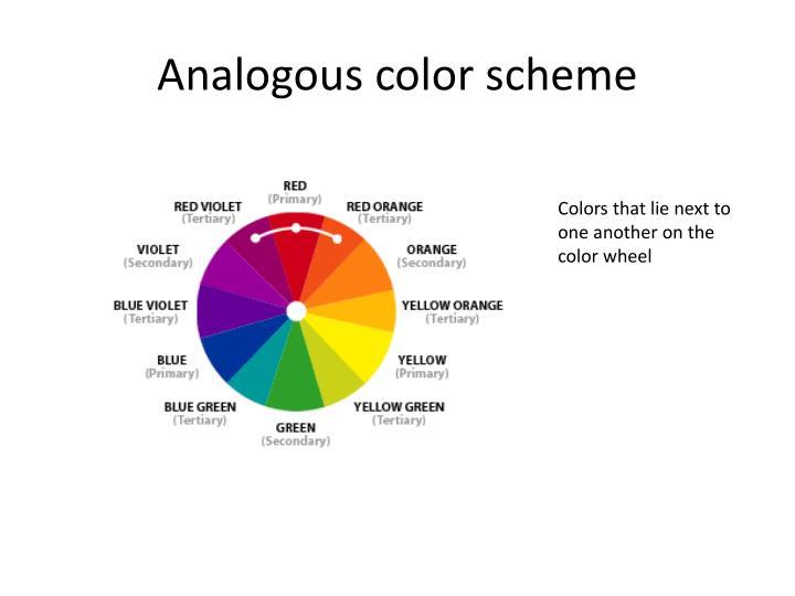 Analogous color scheme