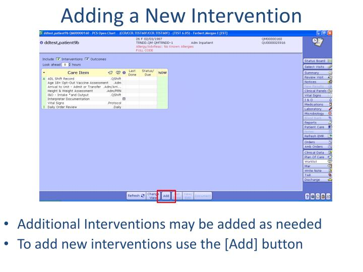 Adding a New Intervention