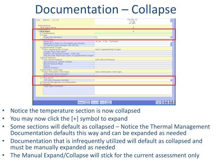 Documentation – Collapse