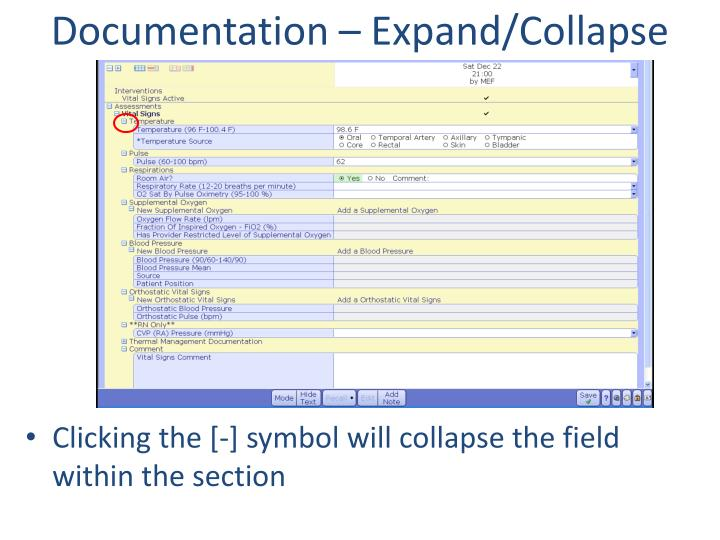Documentation – Expand/Collapse