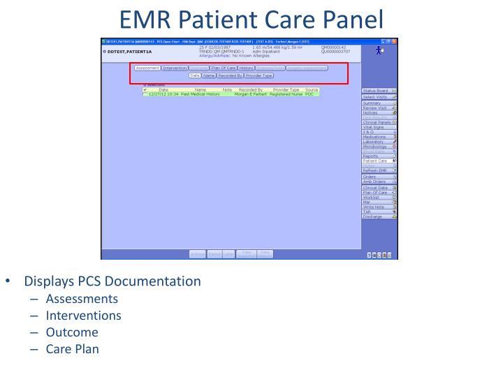 EMR Patient Care Panel