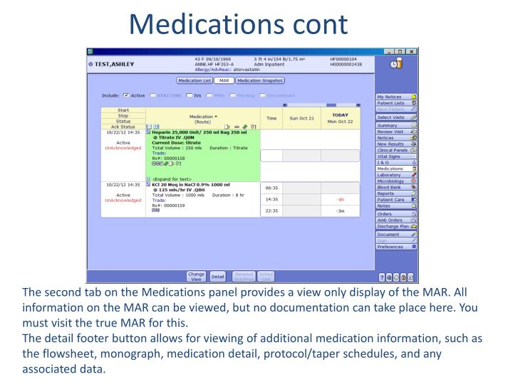 Medications cont
