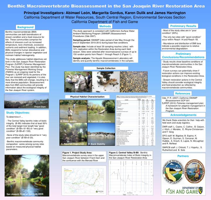 Benthic Macroinvertebrate Bioassessment in the San Joaquin