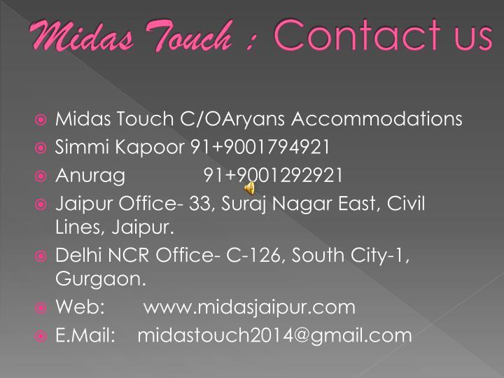 Midas Touch :