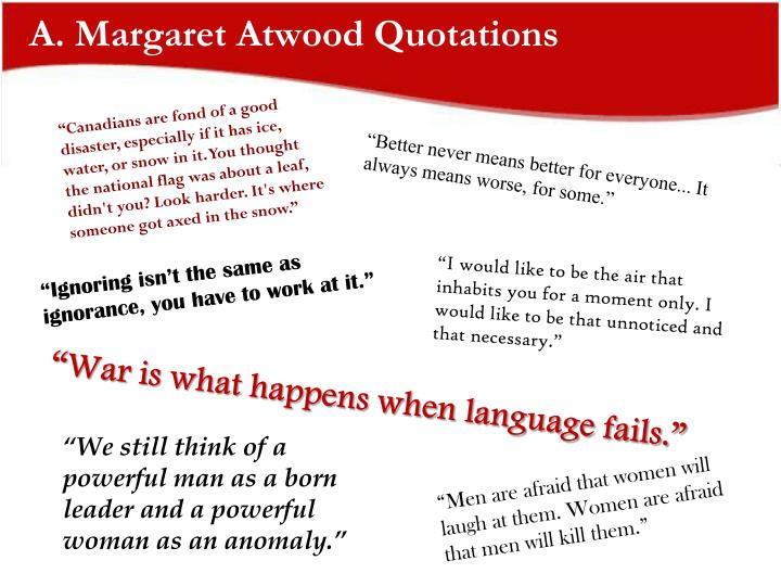 A margaret atwood quotations