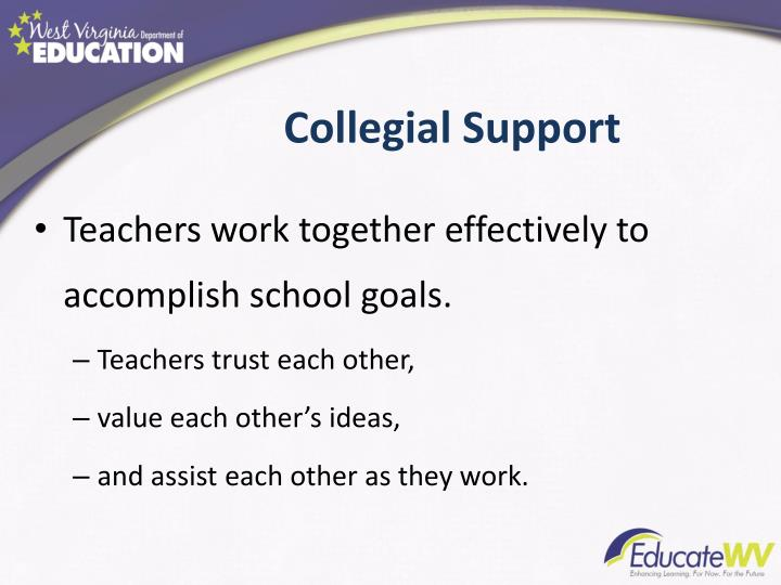 Collegial Support
