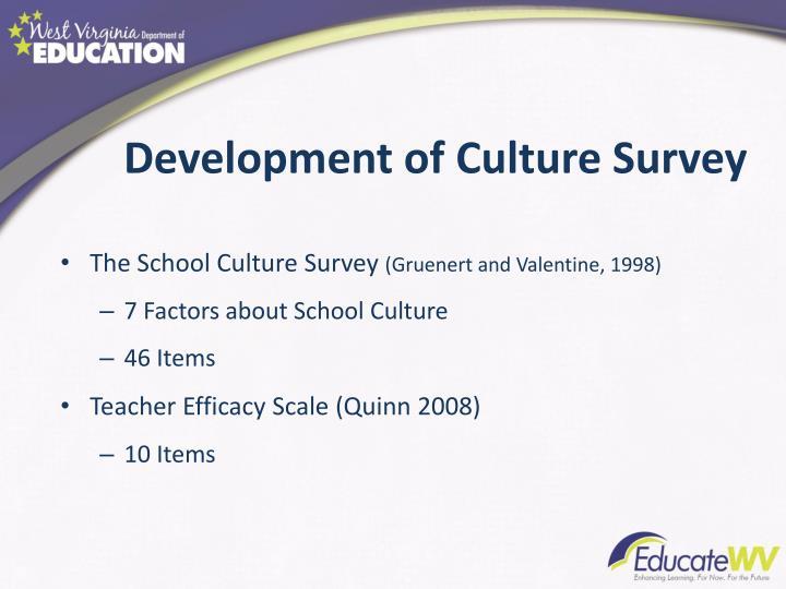 Development of Culture Survey