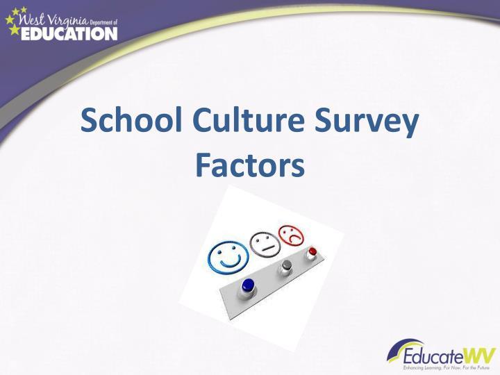 School Culture Survey