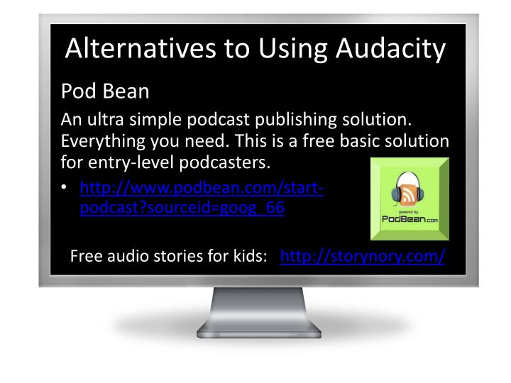 Alternatives to Using Audacity