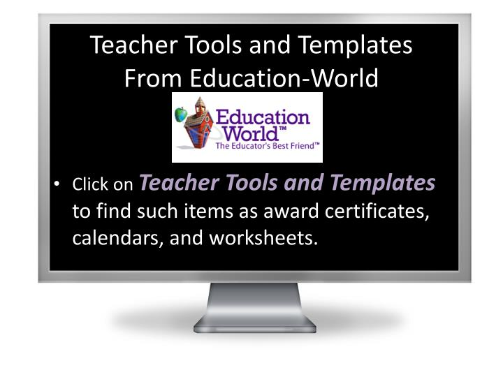 Teacher Tools and Templates