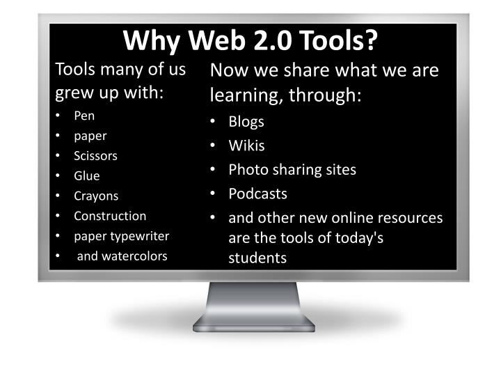 Why Web 2.0 Tools?
