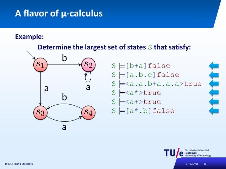 A flavor of μ-calculus