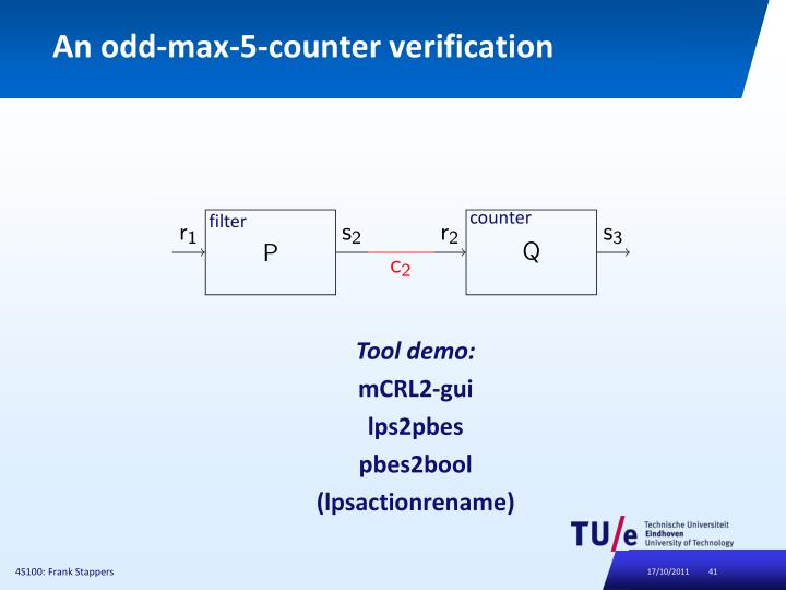 An odd-max-5-counter verification