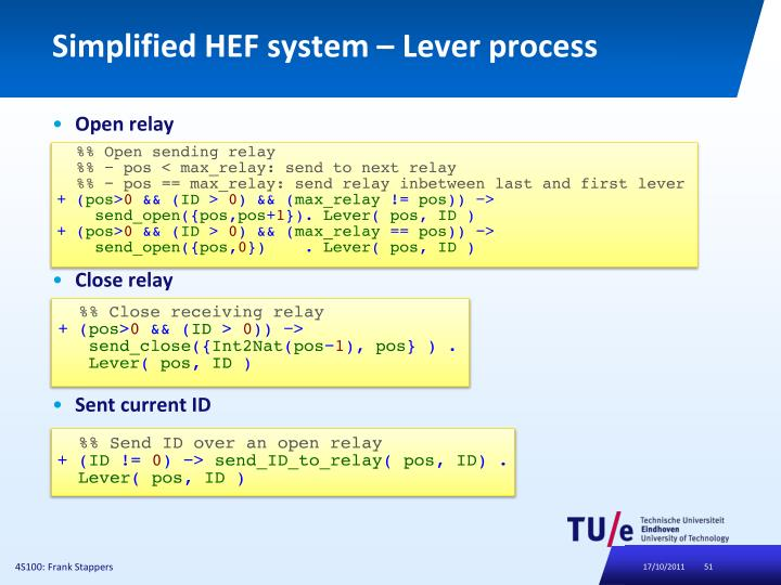 Simplified HEF system – Lever process