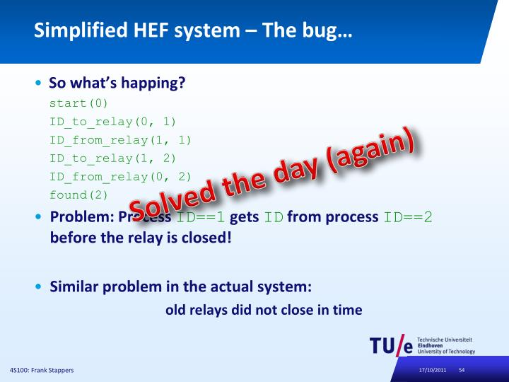 Simplified HEF system –