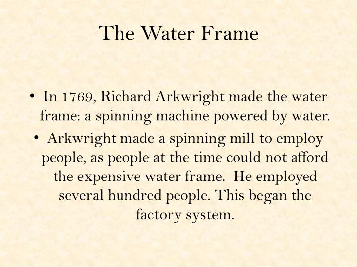 The Water Frame