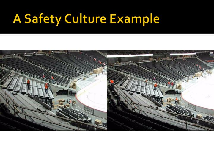 A Safety Culture Example