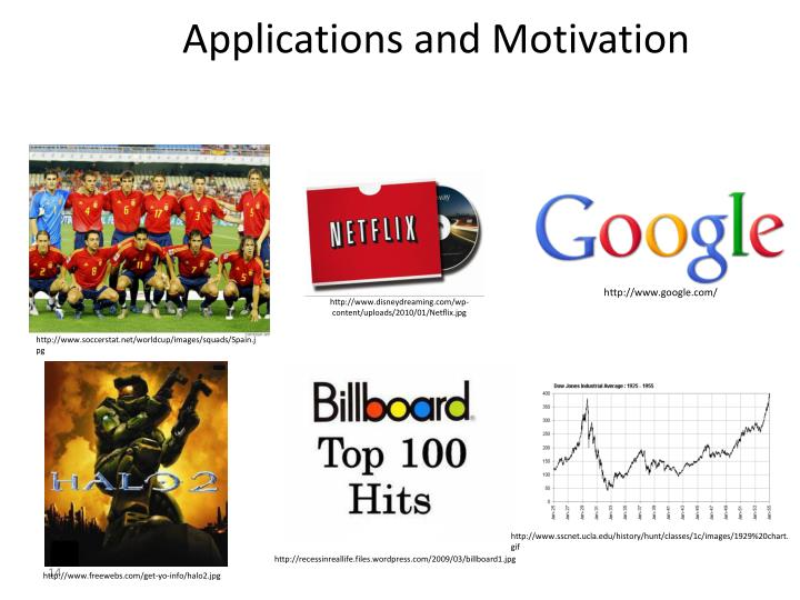 Applications and Motivation