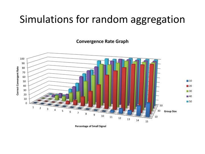 Simulations for random aggregation