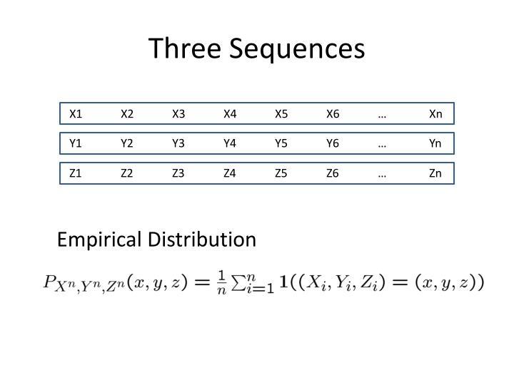 Three Sequences