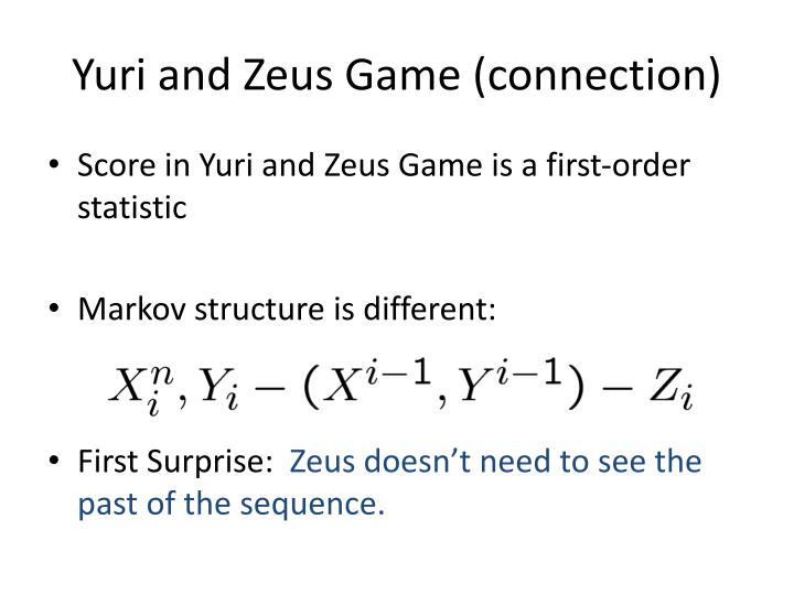 Yuri and Zeus Game (connection)