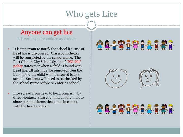 Who gets lice