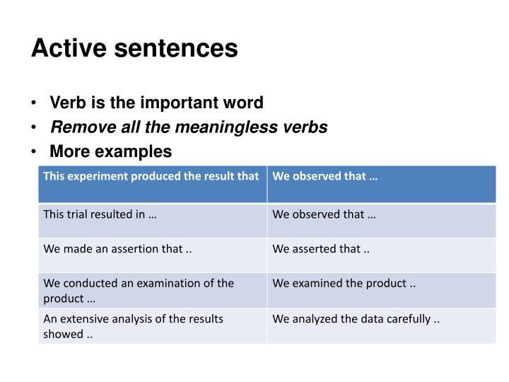 Active sentences