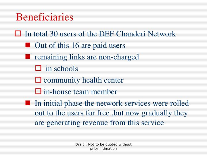 Beneficiaries