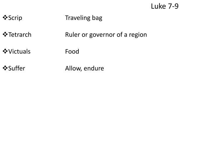 Luke 7-9