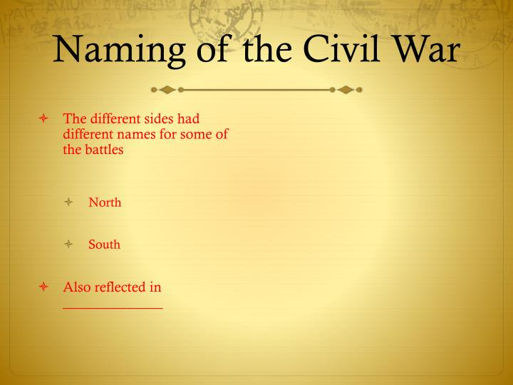 Naming of the Civil War