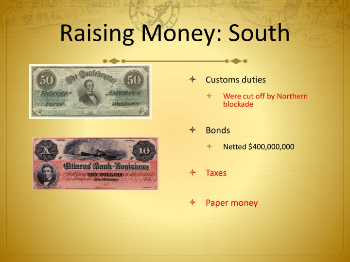 Raising Money: South