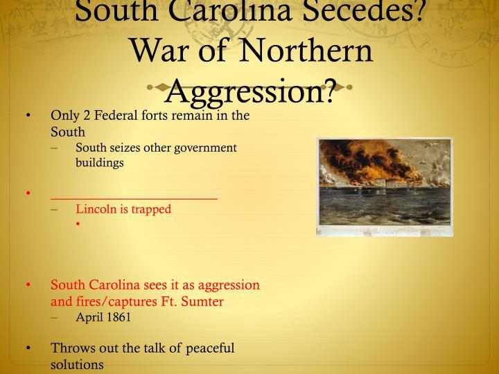 South Carolina Secedes?