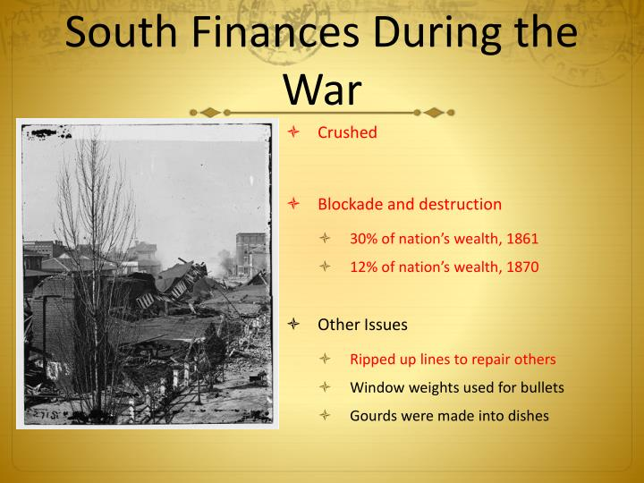 South Finances During the War