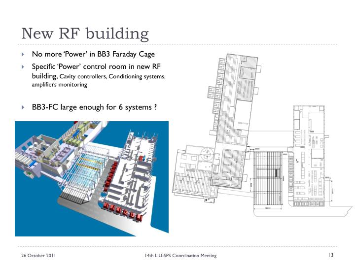 New RF building