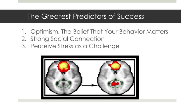 Optimism, The Belief That Your Behavior Matters