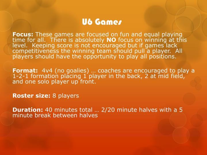 U6 Games