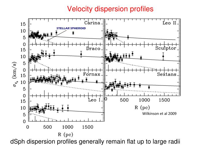 Velocity dispersion profiles